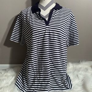 St Johns Bay Size XL (16/18) Cotton Striped Shirt